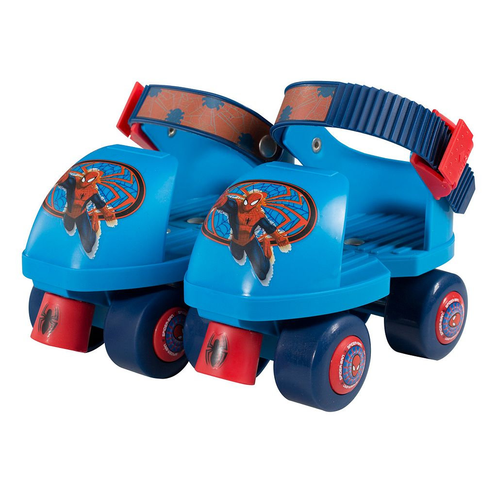 Marvel Spiderman Roller Skates & Knee Pads Set - Boys