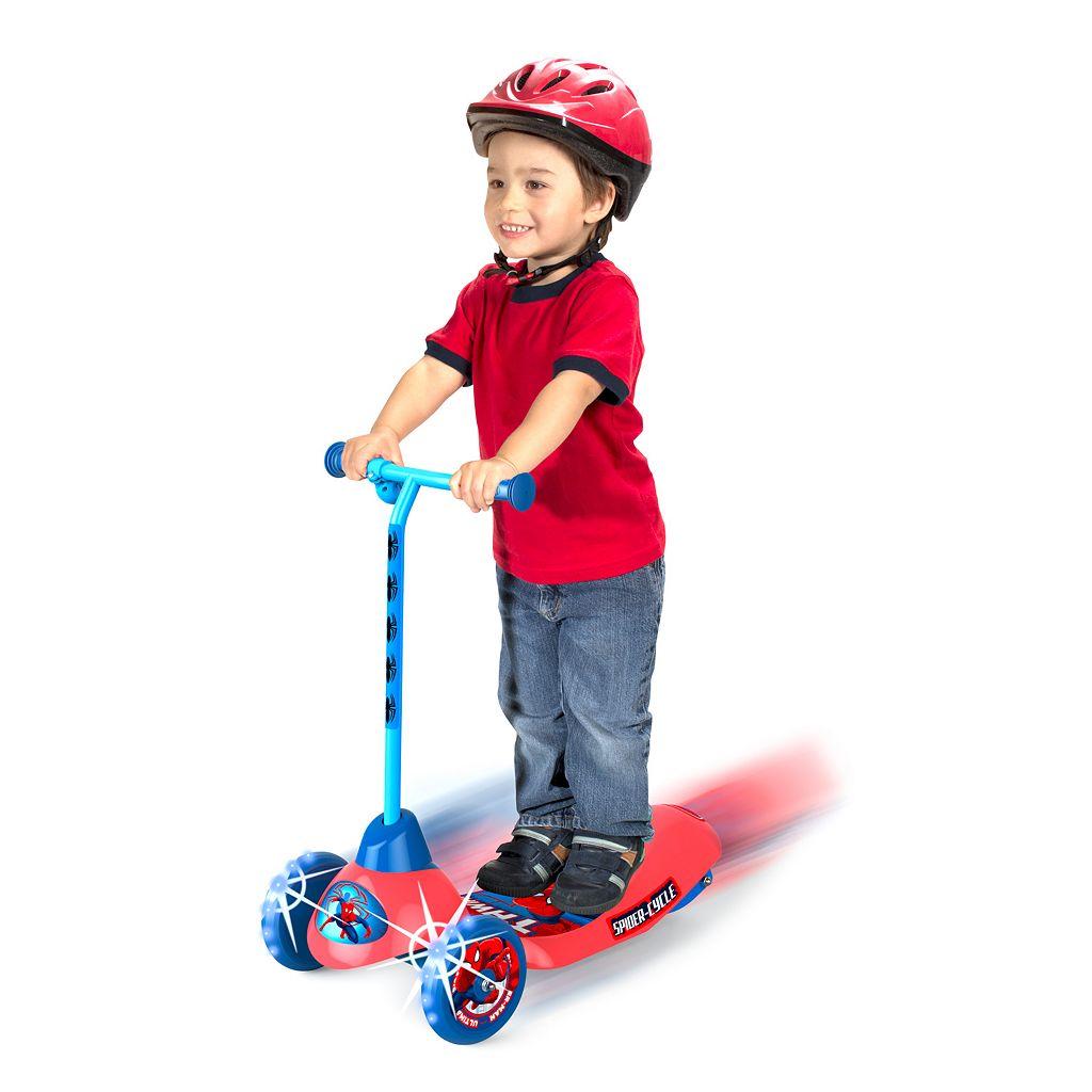 Marvel Spider-Man Safe Start 3-Wheel Electric Scooter - Boys