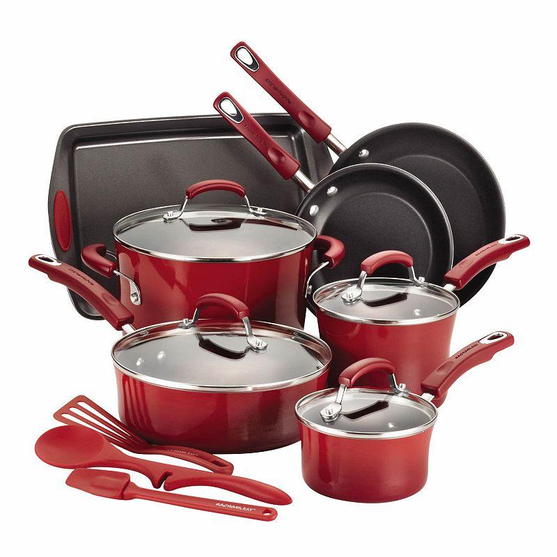 Rachael Ray Hard-Enamel Nonstick 14-pc. Cookware Set
