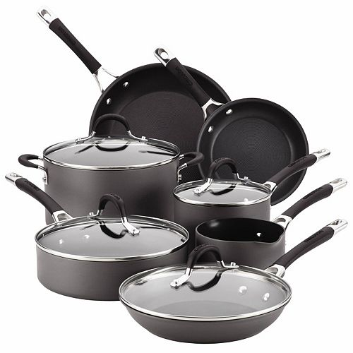 Circulon Momentum 11 Pc. Nonstick Hard Anodized Cookware Set by Circulon