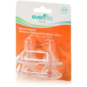 Evenflo Feeding 4-pk. Classic Silicone Medium Flow Nipples