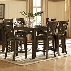 HomeVance Englewood 7 pc Counter Height Dining Set
