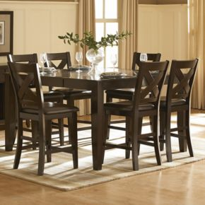 HomeVance Englewood 7-piece Counter Height Dining Set