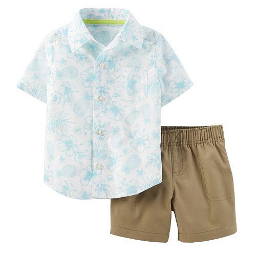 462d05bb Baby Boy Carter's Hawaiian Shirt & Shorts Set