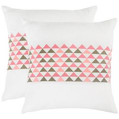 Safavieh 2-piece Geo Mountain 20'' x 20'' Throw Pillow Set
