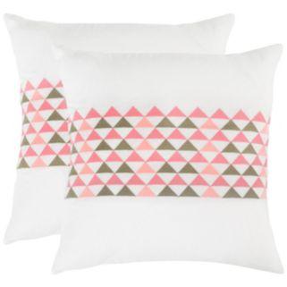 Safavieh 2-piece Geo Mountain 20'' x 20'' Throw Pillow Set