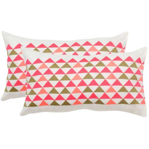 Safavieh 2-piece Geo Mountain 12'' x 20'' Throw Pillow Set