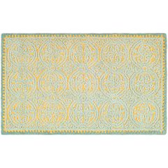 Safavieh Cambridge Blue Ornate Geometric Wool Rug