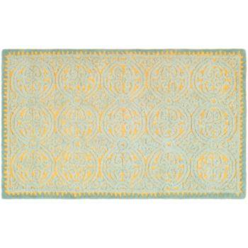 Safavieh Cambridge Blue Ornate Geometric Wool Rug