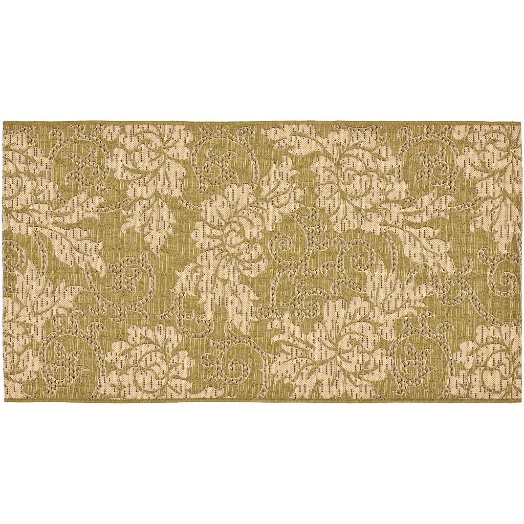 Safavieh Courtyard Floral Border Indoor Outdoor Rug