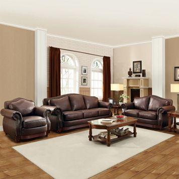 HomeVance Hillcrest 3-piece Living Room Set