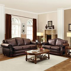 HomeVance Hillcrest 2 pc Loveseat & Sofa Set