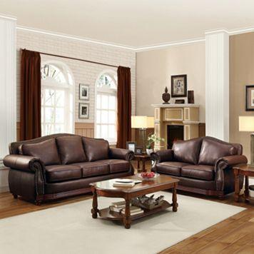 HomeVance Hillcrest 2-piece Loveseat & Sofa Set