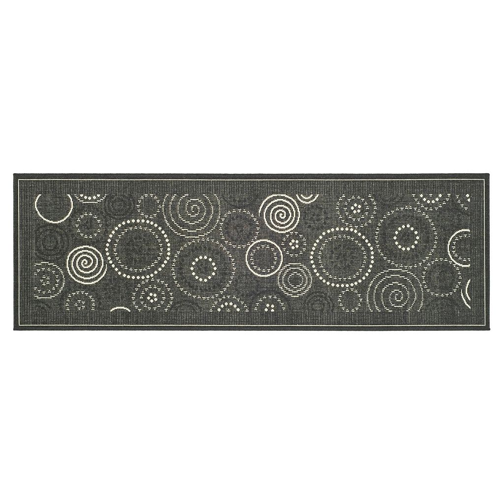 Safavieh Courtyard Swirl Circle Indoor Outdoor Rug