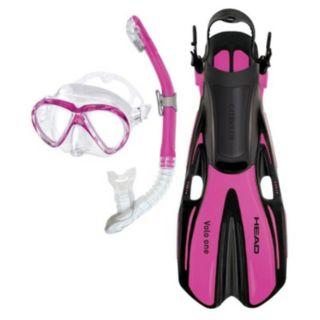 HEAD 3-pc. Marlin Purge Dry Snorkel Set