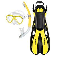 HEAD 3 pc Marlin Purge Dry Snorkel Set