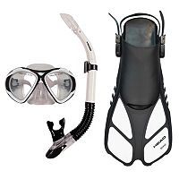 HEAD 3 pc Xray Sailor Splash Quest Travel Snorkel Set