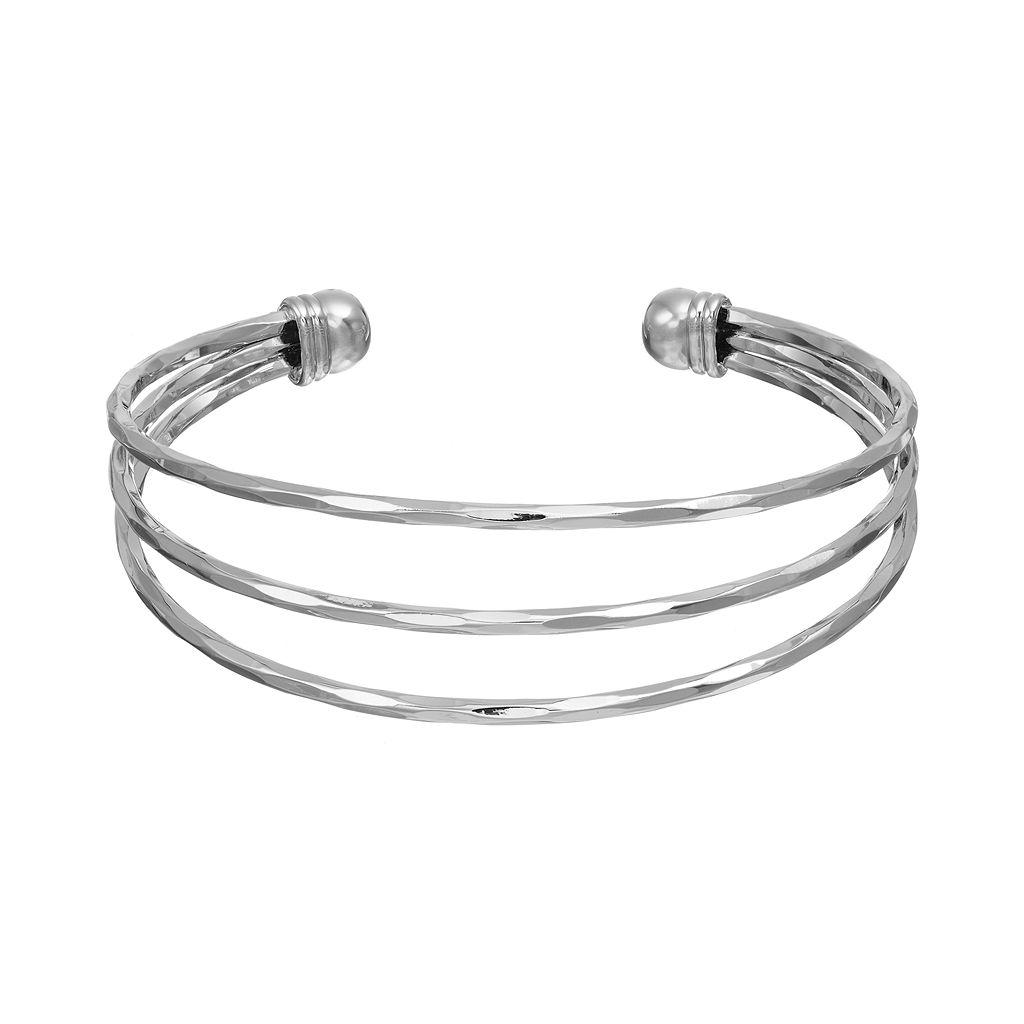 Textured Open Cuff Bracelet