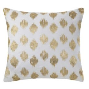 INK+IVY Nadia Metallic Dot 18'' x 18'' Throw Pillow
