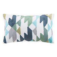INK+IVY Konya Geometric Embroidered Throw Pillow