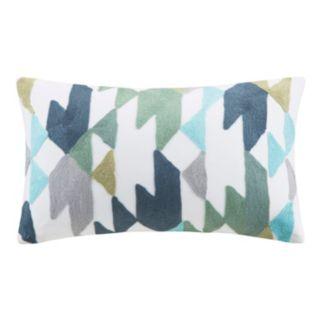 INK+IVY Konya Geometric Embroidered Throw Pillow