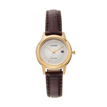 Citizen Eco-Drive Women's Leather Watch - FE1082-05A