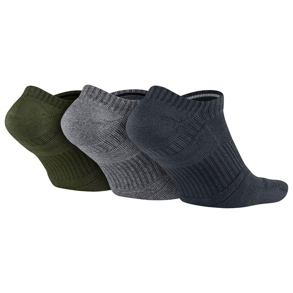 Men's Nike 3-pack Dri-FIT Half-Cushioned No-Show Socks