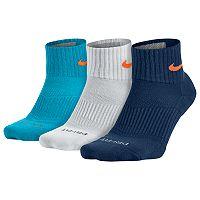 Men's Nike 3-pack Dri-FIT Half-Cushioned Quarter Socks