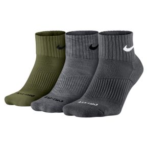 Men's Nike 3-pack Dri-FIT Half-Cushioned Quarter Socks