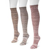 MUK LUKS 3 pkMarled Knee-High Socks - Women