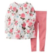 Carter's Floral Peplum Top & Leggings Set - Toddler Girl