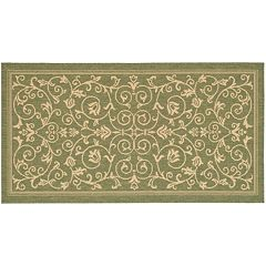 Safavieh Courtyard Decorative Scroll Indoor Outdoor Rug