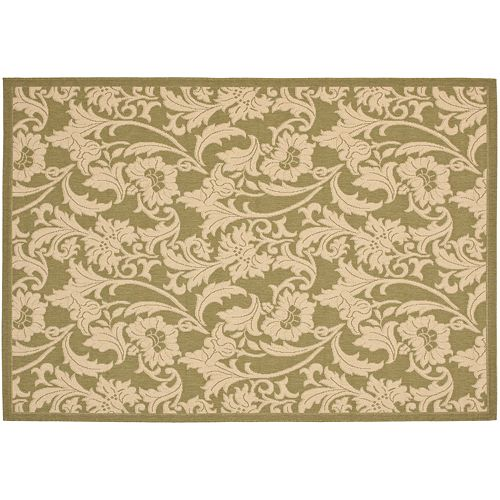Safavieh Courtyard Floral Motif Indoor Outdoor Rug