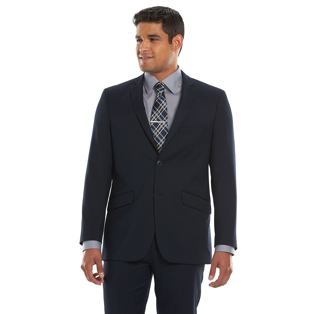 Lazetti Slim-Fit Navy Suit Jacket