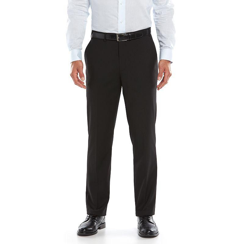 Lazetti Slim-Fit Black Suit Pants - Men