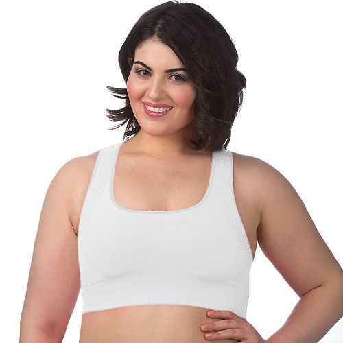 Plus Size Superfit Curves Bra: Seamless Medium-Impact Sports Bra 23320