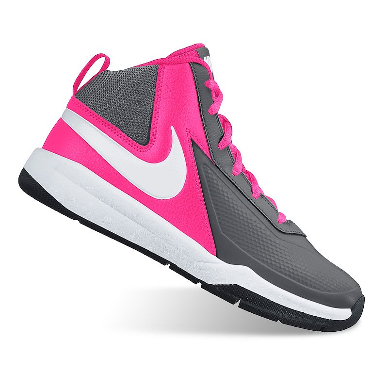 Dark Gray And Pink Nike Shoes