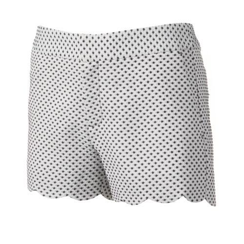 ELLE? Textured Scallop-Hem Shorts - Women's