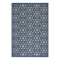 Nourison Caribbean Floral Lattice Indoor Outdoor Rug