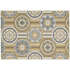 Nourison Caribbean Day Dreams Medallion Indoor Outdoor Rug