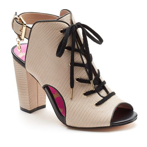 e1dfcdd130d Juicy Couture Women s Lace-Up Peep-Toe High Heels
