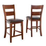 2-Piece Mango Counter Chair Set