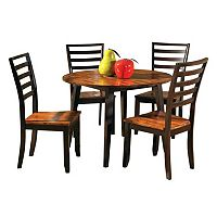 5-Piece Abaco Drop Leaf Dining Set
