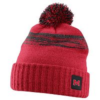Adult Nike Ole Miss Rebels Striped Knit Beanie