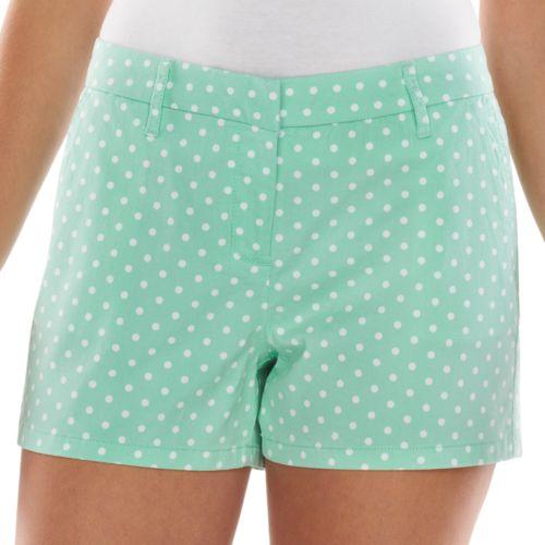 ELLE? Print Chino Shorts - Women's