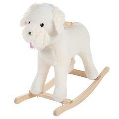Happy Trails Sherman the Rocking Plush Schnoodle Dog