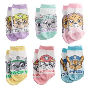 Toddler Girl Paw Patrol 6-pk. Crew Socks