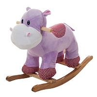Happy Trails Henrietta the Rocking Plush Hippo