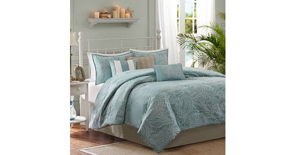 Madison Park Seaside 7 Pc Reversible Comforter Set