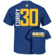 Majestic Golden State Warriors Stephen Curry Custom Tee - Boys 8-20
